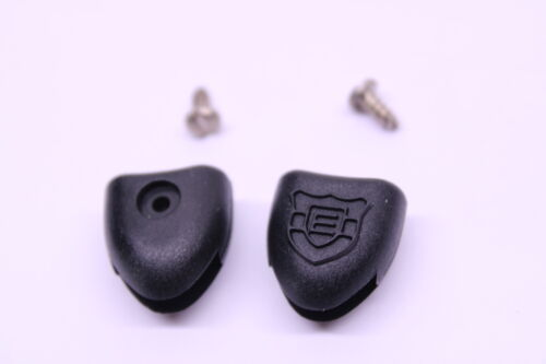 Toe Clip Strap Button End Caps Black Screws Road Touring Nyl