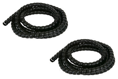 2x 58 Hydraulic Hose Spiral Wrap 10f Wire Protector Cover Guard Cable Organizer
