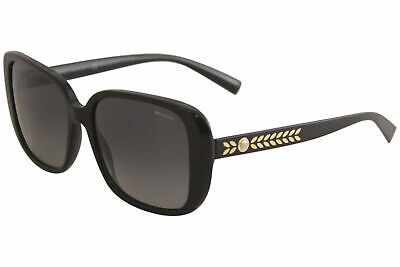 Versace Women's VE4357 VE/4357 GB1/T3 Black Square Polarized Sunglasses 56mm
