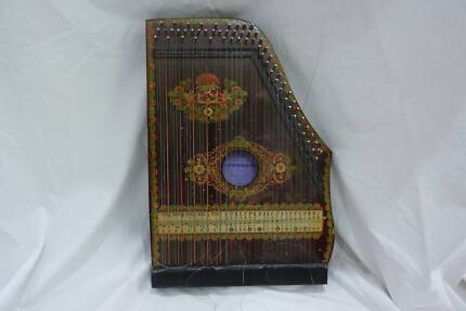 Antique Vintange Zither Musical Instrument
