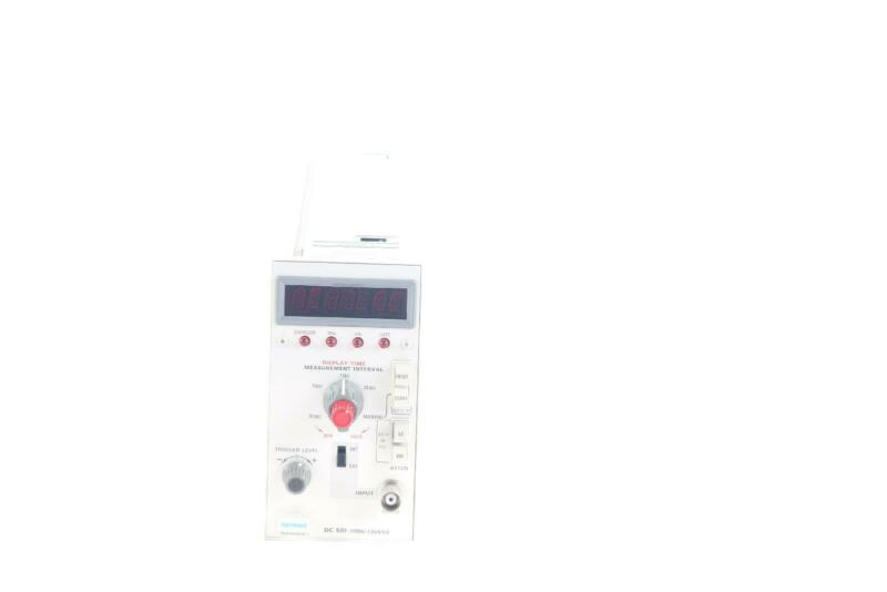 Tektronix DC501 OPT 1 110MHz Time Measurement Interval Overflow Counter