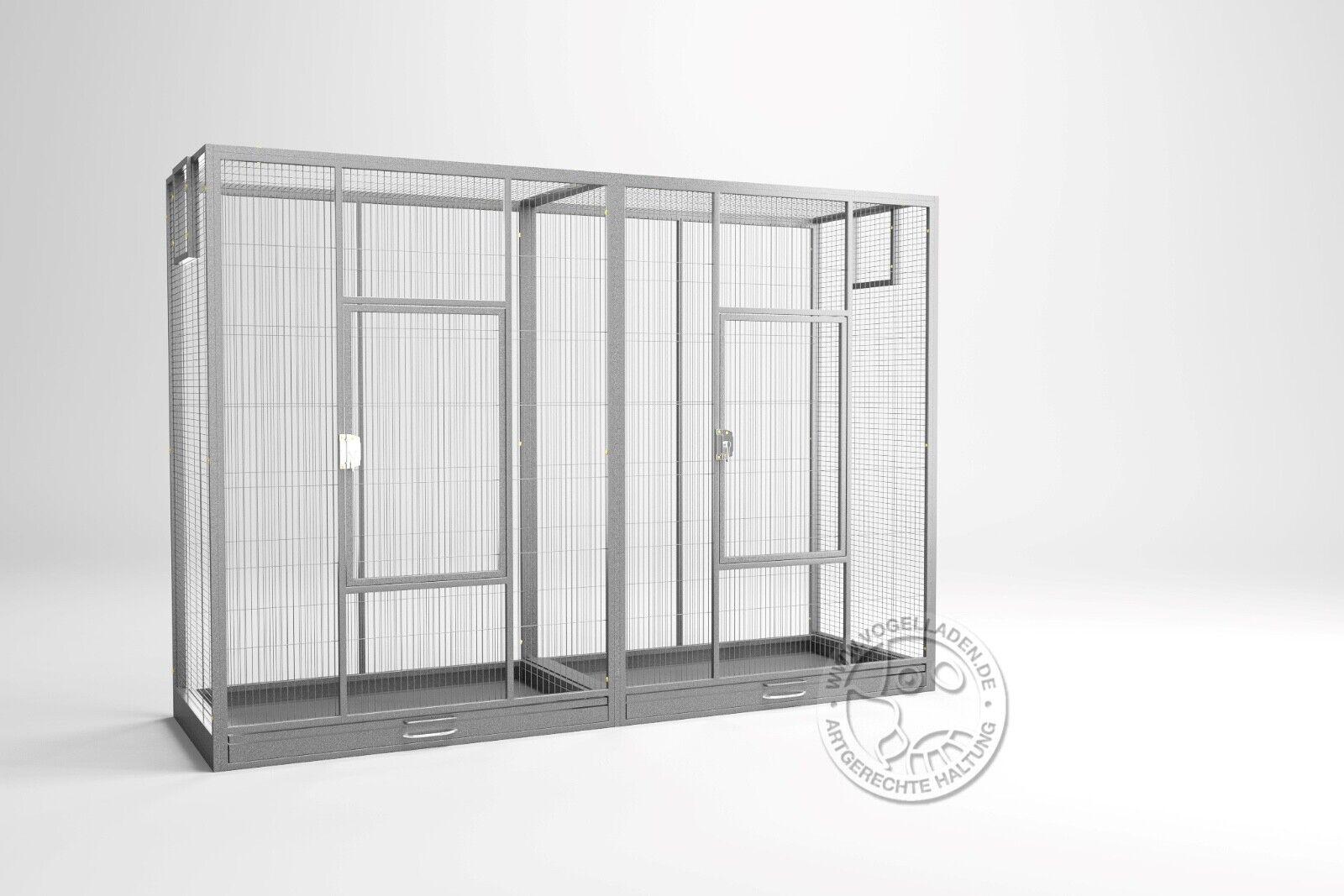XXL Vogelkäfig Voliere für Sittiche Melbourne Antik von Montana Cages