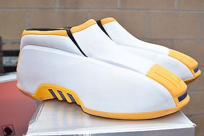DS 2002 Adidas KOBE TWO OG size 13 White Yellow LAKERS segunda mano  Embacar hacia Mexico