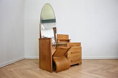 DELIVERY£50 Vintage Deco Oak Dressing Table from G Plan