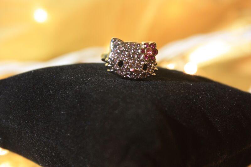 Hello Kitty Pink Rhinestone Ring