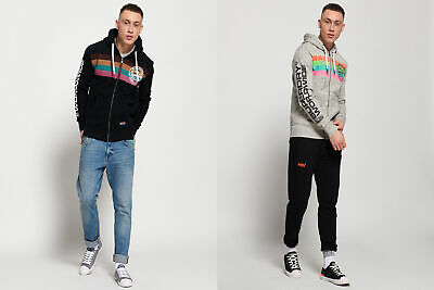 Superdry Ticket Type Stripe Zip Hoodie