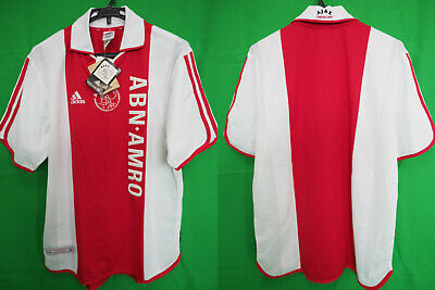 2000-2001 Ajax Amsterdam Football Soccer Jersey Shirt Home ABN AMRO Adidas L NWT image