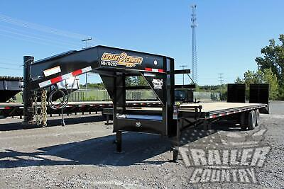 New 2021 8 X 35 305 Dual Tandem 12 Ton Deck Over Equipment Gooseneck Trailer