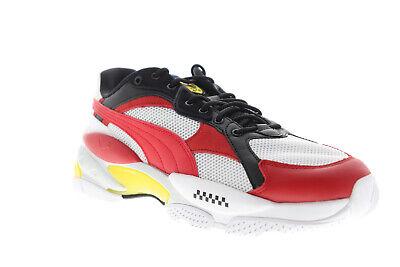 Puma Scuderia Ferrari Cell Epsilon 30651201 Mens White Low Top Sneakers Shoes