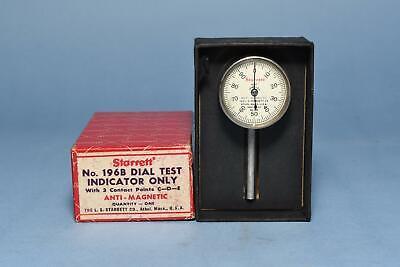 Starrett Dial Test Indicator 196b1 In Box