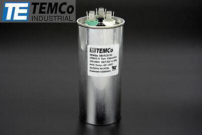 Temco 607.5 Mfd Uf Dual Run Capacitor 370 440 Vac Volts Ac Motor Hvac 607.5