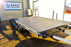 16X8 FLAT TOPPED BEAVER-TAILED CAR TRAILER (Australian Made) Holden Hill Tea Tree Gully Area Preview