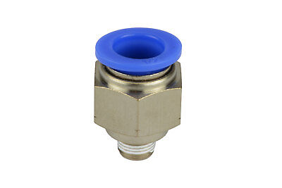 1x Temco Pneumatic Air Quick Push To Connect Fitting 18 Npt To 12 Hose Od