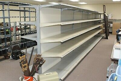 28 X 72 Tall - Double Sided Gondola Shelving - 7 4 Sections W 22 Shelves
