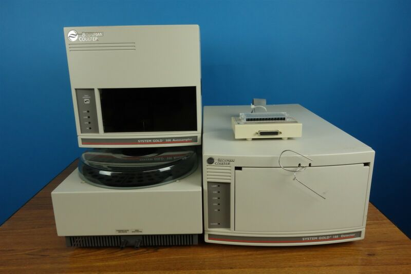 Beckman System Gold HPLC System with 166 Detector + 508 Autosampler + Interface