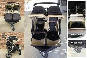 Twin pram 3 three wheeler steelcraft jogger Warwick Southern Downs Preview