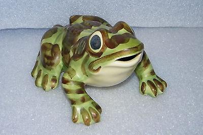 "Brush McCoy Large Flower Garden Frog Toad Figurine 8"" Pottery"