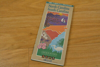 Carolina Traveler North Carolina South Carolina Road Map 1995