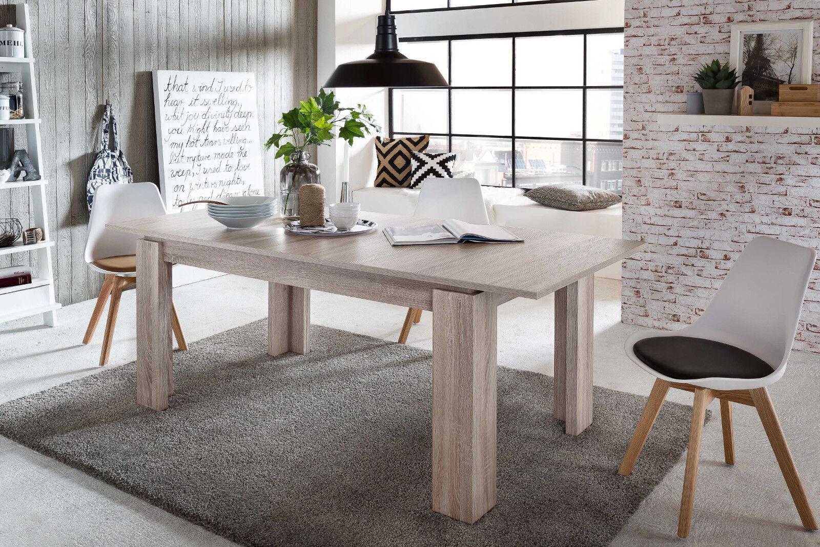 Esszimmertisch holztisch ausziehbar sonoma eiche 160 200 for Holztisch ausziehbar