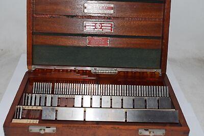 Vintage Hoke Weber Mitutoyo Precision Gage Blocks 929-z Steel Style 85