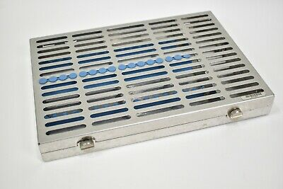 Ims Instrument Sterilizer Cassette Hu-friedy 12 Hold With Accessory Area Blue