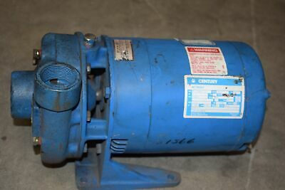 Goulds 351566 3-78 Centrifugal Water Pump 1hp Century 8-134667-01 Ac Motor