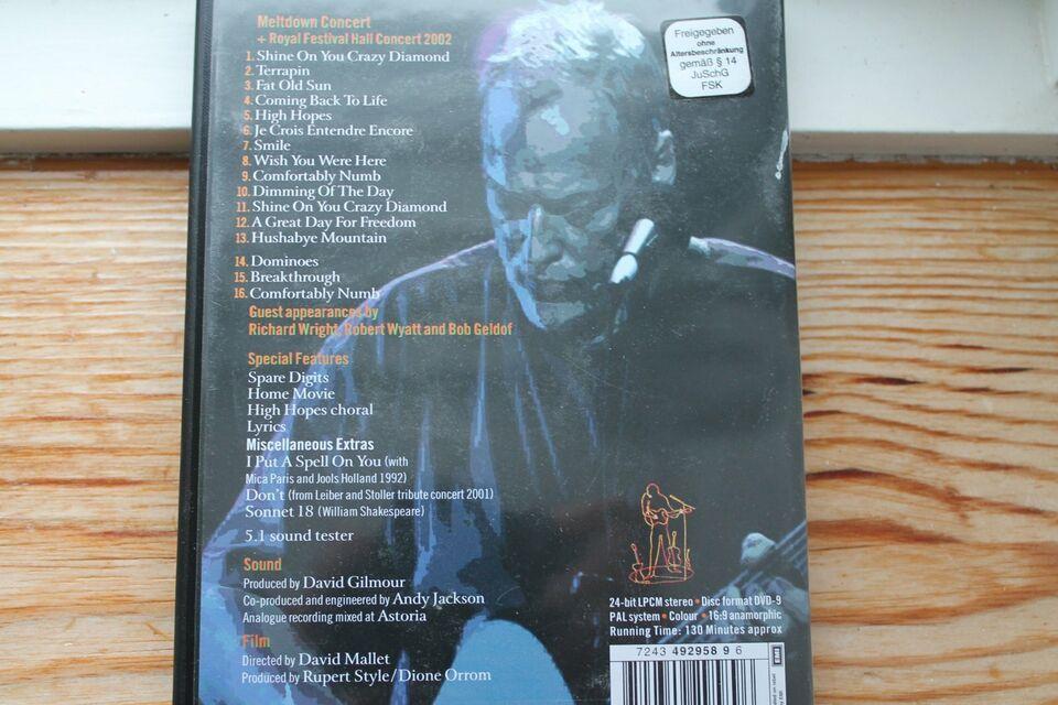 DAVID GILMOUR  In Concert  DVD (Meltdown 2002) in Bredstedt