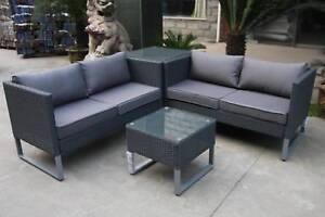 Outdoor Wicker Corner 4 Seater Lounge Setting with Coffee Table Roselands Canterbury Area Preview