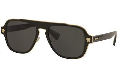 Versace Men's Medusa Charm VE2199 2199 1002/81 Pilot Polarized Sunglasses (Versace Sunglasses Polarized Mens)