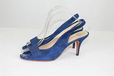 NEW Modern Vintage Women's Shoes 38.5 US 8 Suede Cobalt Blue Stretch Peep Toe  Stretch-peep-toe