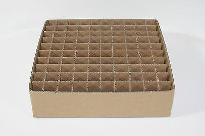 GITTERFACHKARTON GF70- 100 FÄCHER für Elektronenröhren z.B EL84 EL86 E80CC EZ81