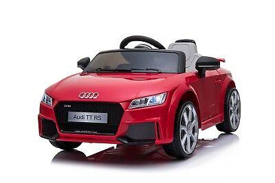 Elektro Kinder Auto Fahrzeug Elektrofahrzeug Cabrio Akku Audi 12V TT RS Rot