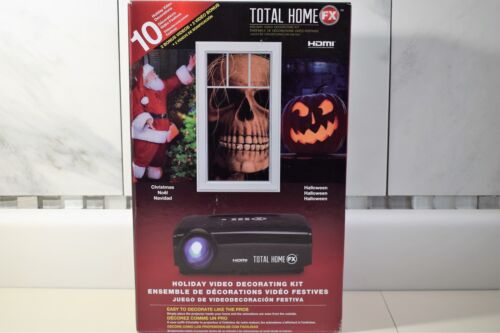 Total Home FX Window LED Video Projector Holiday Decorating Kit