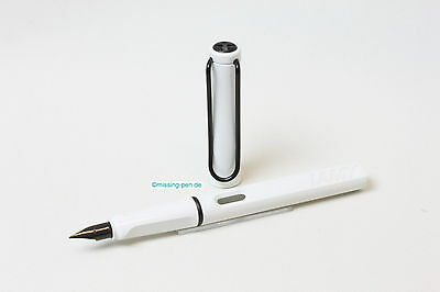 Lamy Safari  Alpine White as Fountain Pen with black clip with W-Germany