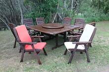 Solid Large Outdoor Dining Set - VGC Deagon Brisbane North East Preview