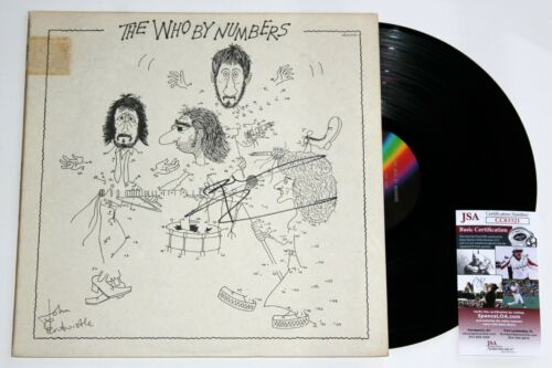 PETE TOWNSHEND SIGNED THE WHO BY NUMBERS LP VINYL RECORD ALBUM AUTOGRAPH JSA COA
