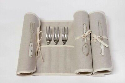 Porta Posate set x 36 per Cucchiai Forchette e Coltelli in Panama colore Corda