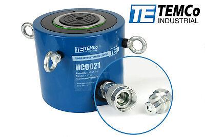 Temco Hc0021 - Hydraulic Cylinder Ram Single Acting 150 Ton 2 Inch Stroke
