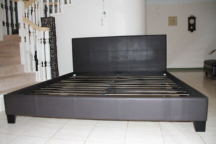King Size Leather Bed, 1 month old excellent condition, as new
