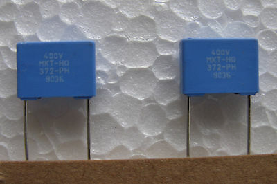 25 New .01uf 400v Volts 5 Philips Mkt 372 Petp Polyester Capacitors