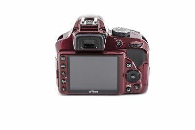 Nikon D D3400 24.2MP Digital SLR Camera, UNIT ONLY - Red - 1571
