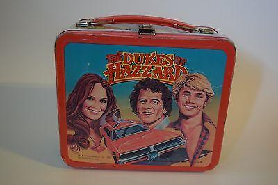 Vintage 1980 Dukes of Hazzard Metal Lunchbox Aladdin No Thermos Bo Luke Daisy