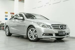 2010 Mercedes-Benz E250 207 CGI Avantgarde Iridium Silver 5 Speed Automatic Coupe Port Melbourne Port Phillip Preview