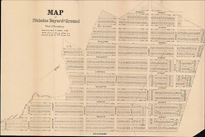 1788 / c. 1920 Goerck Map of Soho, Manhattan, New York (Map Of Soho Ny)
