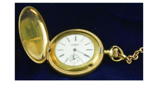 Illinois Hunter Pocket Watch w/Fob Gold Plated