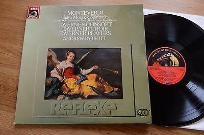 MONTEVERDI  Selva Morale e Spirituale TAVERNER PARROTT LP Reflexe EMI 143591