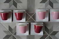neu: 6 Espresso Mokkatassen Untertassen pink rosa weiß Bruneau Niedersachsen - Bad Gandersheim Vorschau