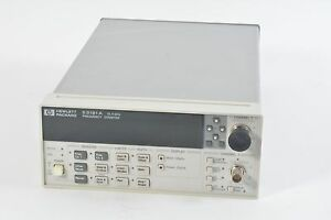 HP Agilent 53181A Frequency Counter, 225mhz + 12.4Ghz - 10 Digit - 010 Oven 124