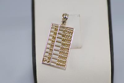 Pre-owned 14kt and 10kt Yellow Gold Working Abacus Pendant