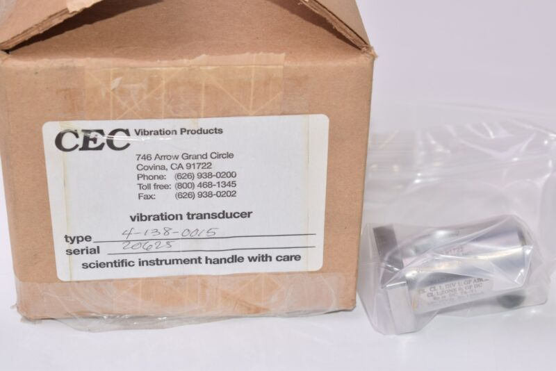 NEW Sealed CEC Vibration Products, Vibration Transducer, Type: 2-138-0015 SER: 2